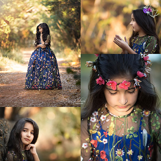 girl's pictures collage