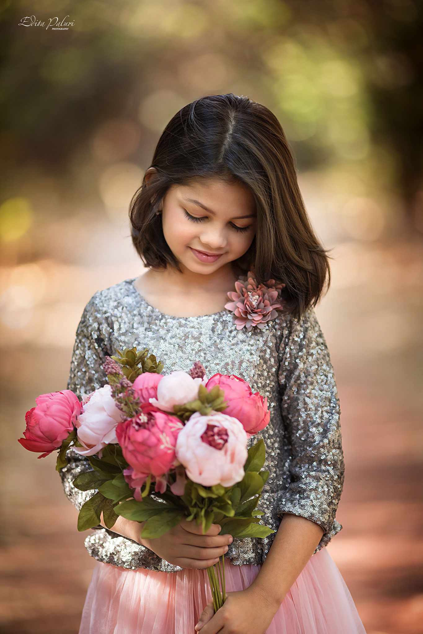 beautiful 8 year old girl photo session - child